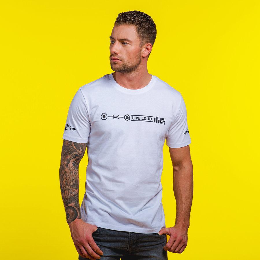 Decibel t-shirt white/black