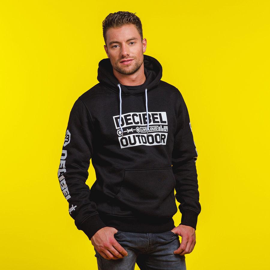 Decibel hoodie black/white