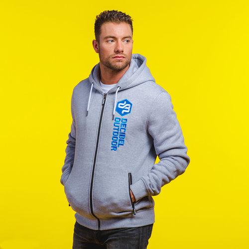 Decibel hooded zip grey/blue