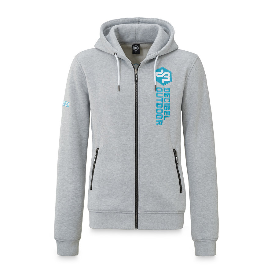 Decibel hooded zip grey/blue