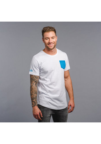 Decibel t-shirt white/blue