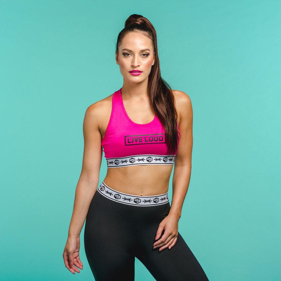 Decibel sport bra pink/black