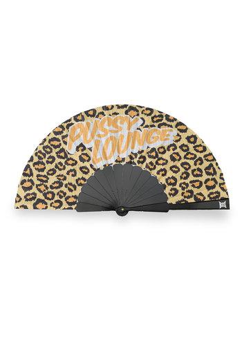 Pussy Lounge handfan brown/leopard