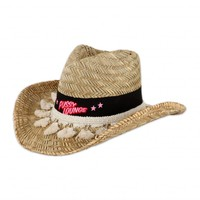 PUSSY LOUNGE STRAW HAT