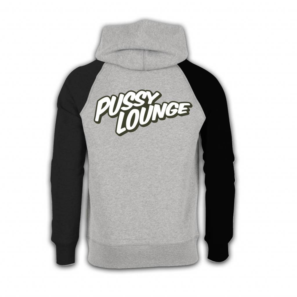 PUSSY LOUNGE HOODIE GREY