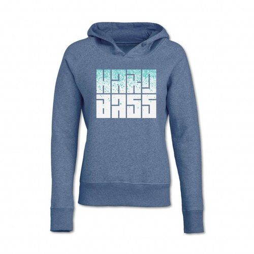 HARD BASS HOODIE HEATHER BLUE