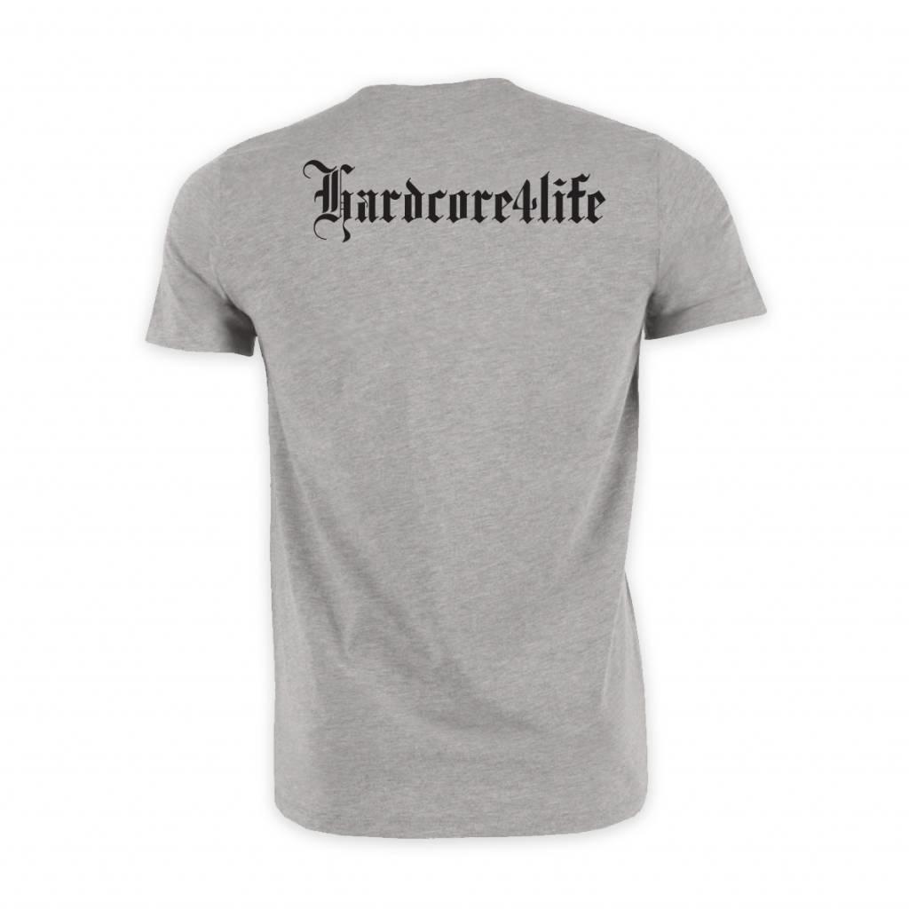 HARDCORE 4 LIFE T-SHIRT HEATHER GREY