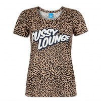 PUSSY LOUNGE ANIMAL PRINT T-SHIRT