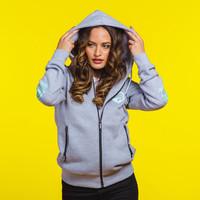 Decibel hooded zip grey/mint