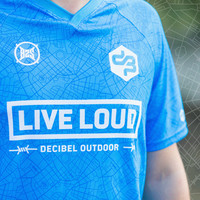 Decibel Sportshirt blue/white