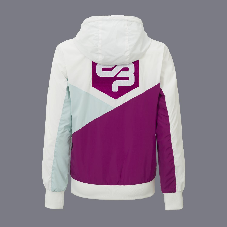 Decibel wind jacket half zip white