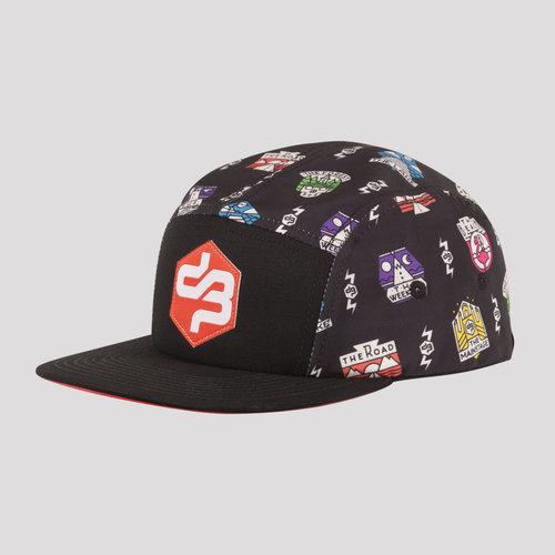 DECIBEL 5-PANEL CAP BLACK