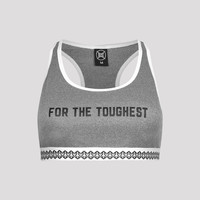 B2S SPORT BRA HEATHER GREY