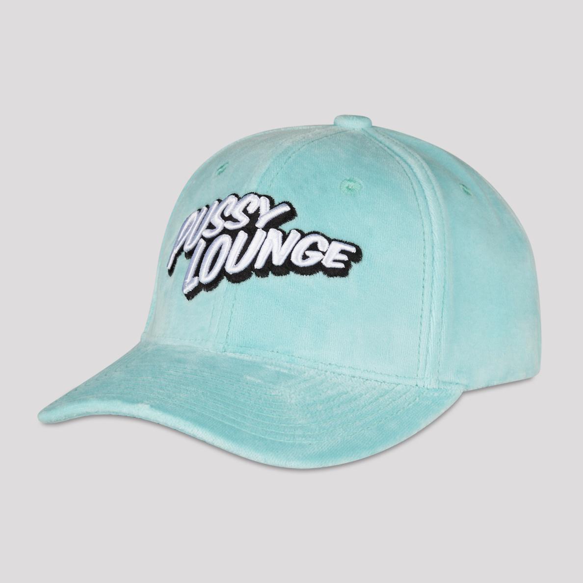 PUSSY LOUNGE BASEBALL CAP VELVET