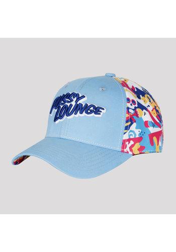 PUSSY LOUNGE BASEBALL CAP BLUE/MULTICOLOR