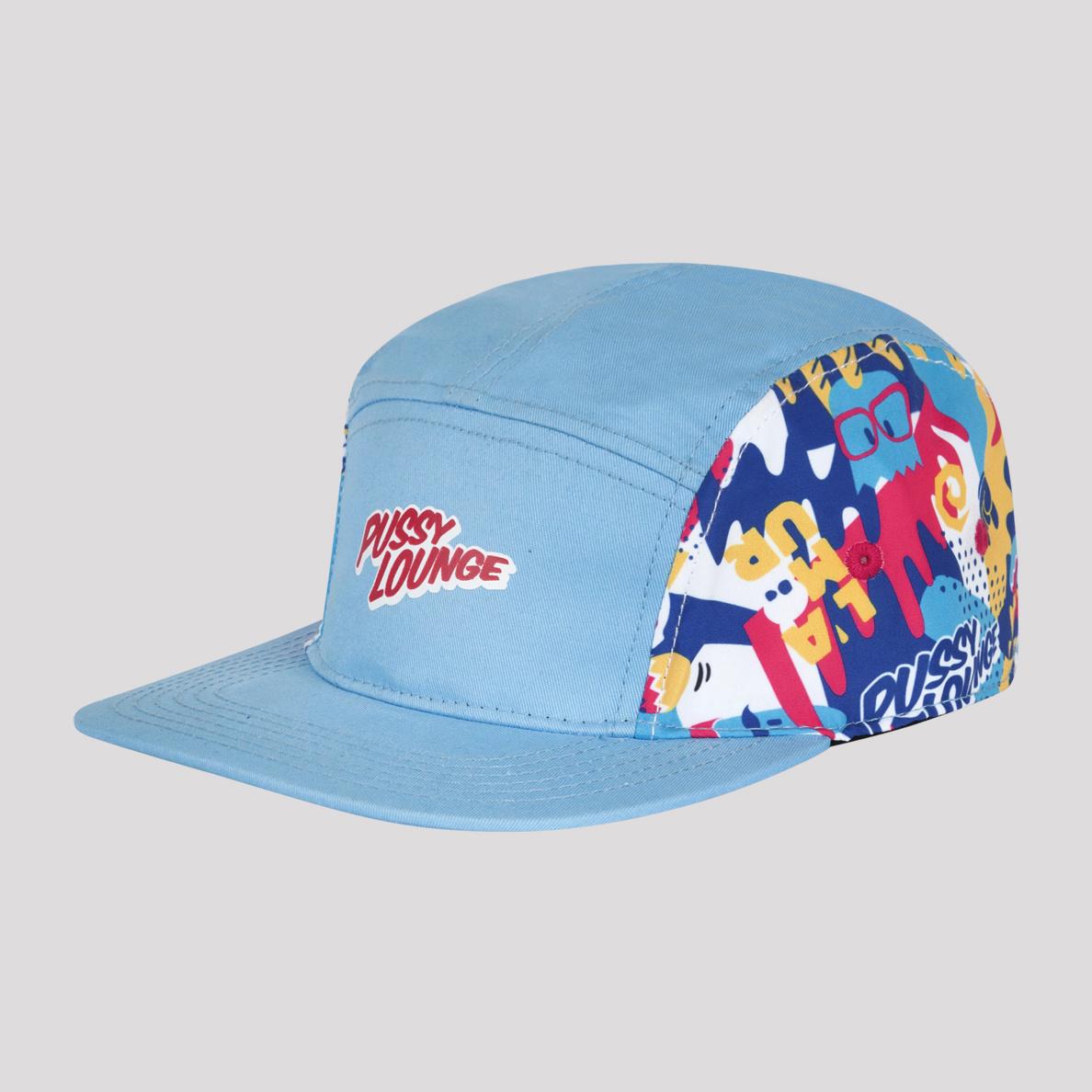 PUSSY LOUNGE PANEL CAP BLUE/MULTICOLOR