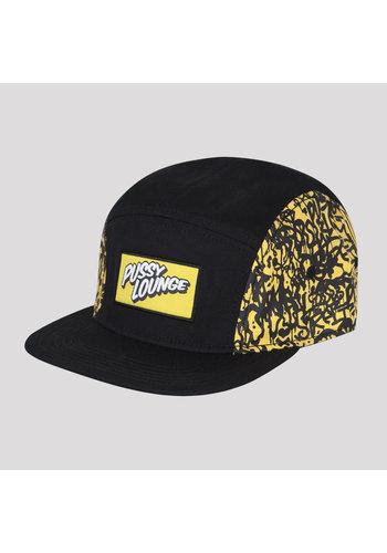 PUSSY LOUNGE 5-PANEL CAP BLACK/YELLOW