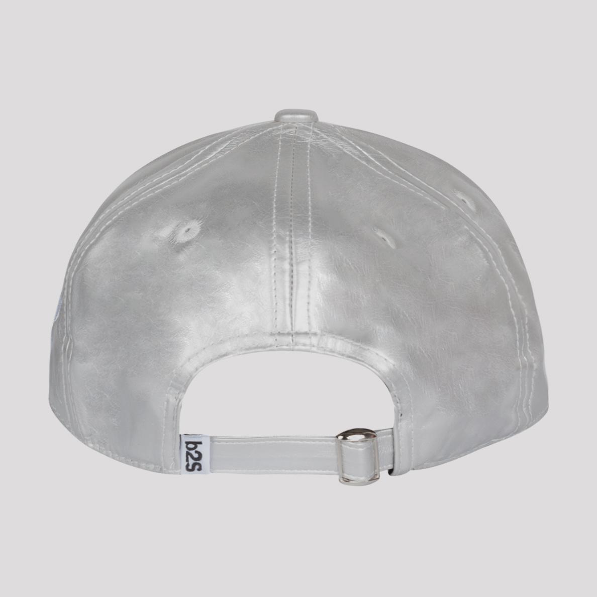 PUSSY LOUNGE BASEBALL CAP METALLIC SILVER