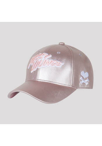 PUSSY LOUNGE BASEBALL CAP METALLIC PINK