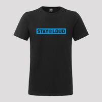 Decibel t-shirt cyaan/black