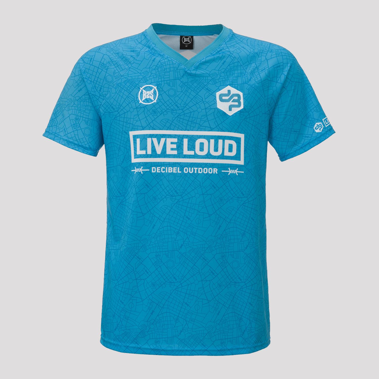 Decibel Sportshirt blue/white