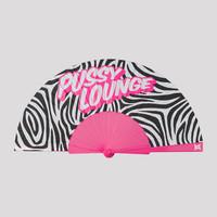 Pussy Lounge handfan pink/zebra