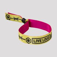 Decibel woven bracelet yellow/pink