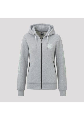 Decibel hooded zip grey/mint