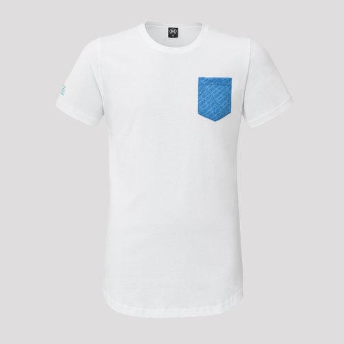 Decibel t-shirt white/blue