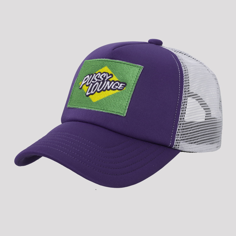 PUSSY LOUNGE TRUCKER CAP PURPLE