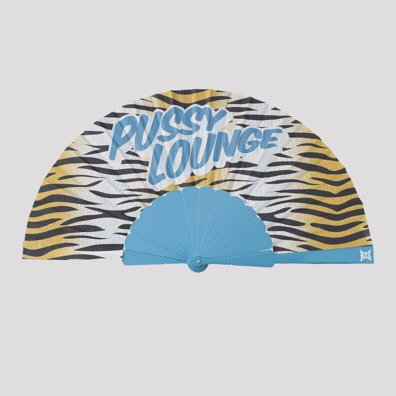 Pussy Lounge handfan blue/tiger