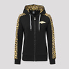 Pussy Lounge PUSSY LOUNGE HOODED ZIP BLACK/LEOPARD