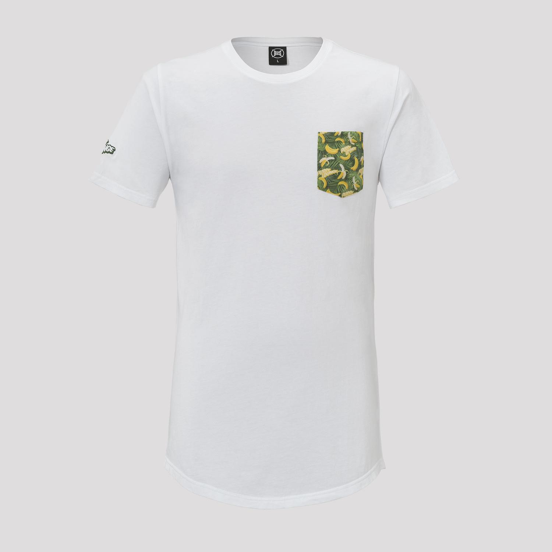 PUSSY LOUNGE T-SHIRT WHITE/BANANA