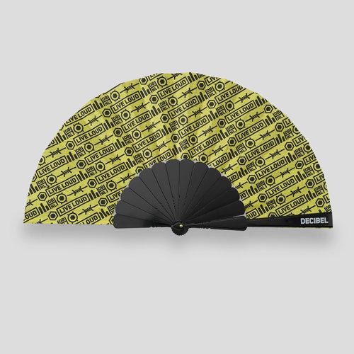 Decibel handfan yellow/black