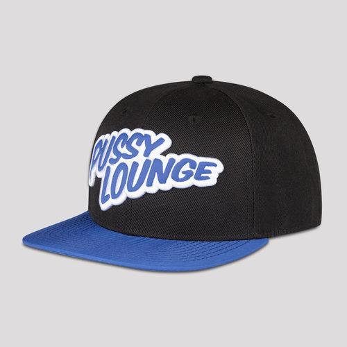 PUSSY LOUNGE SNAPBACK BLACK/BLUE
