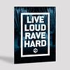 Decibel Decibel visual live loud rave hard 40 x 30
