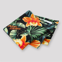 Pussy Lounge towel green/orange