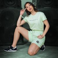 Decibel t-shirt mint/black