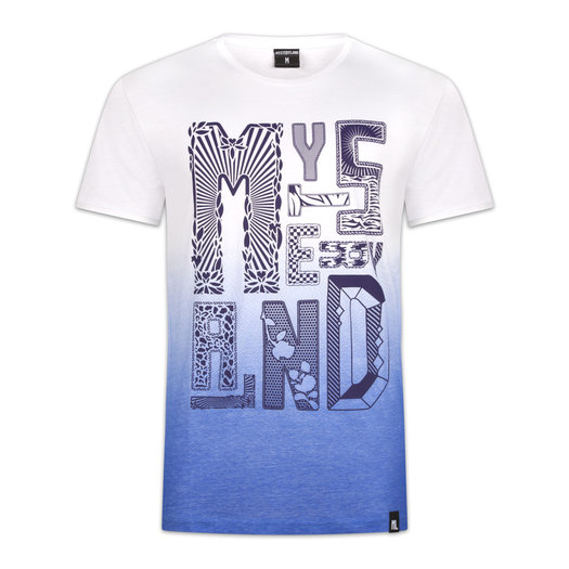 T-SHIRT BLUE/WHITE GRADIENT
