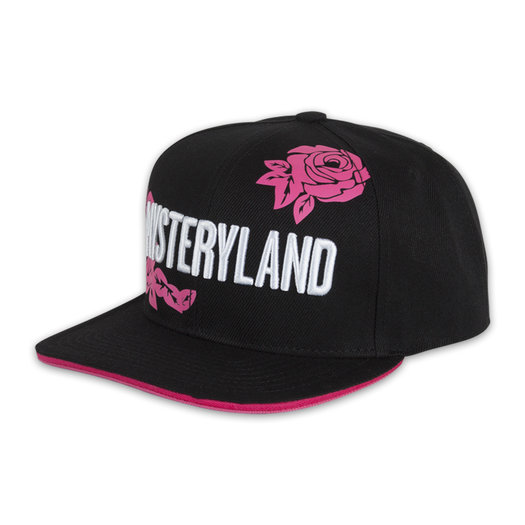SNAPBACK BLACK/WHITE AND PINK ROSES