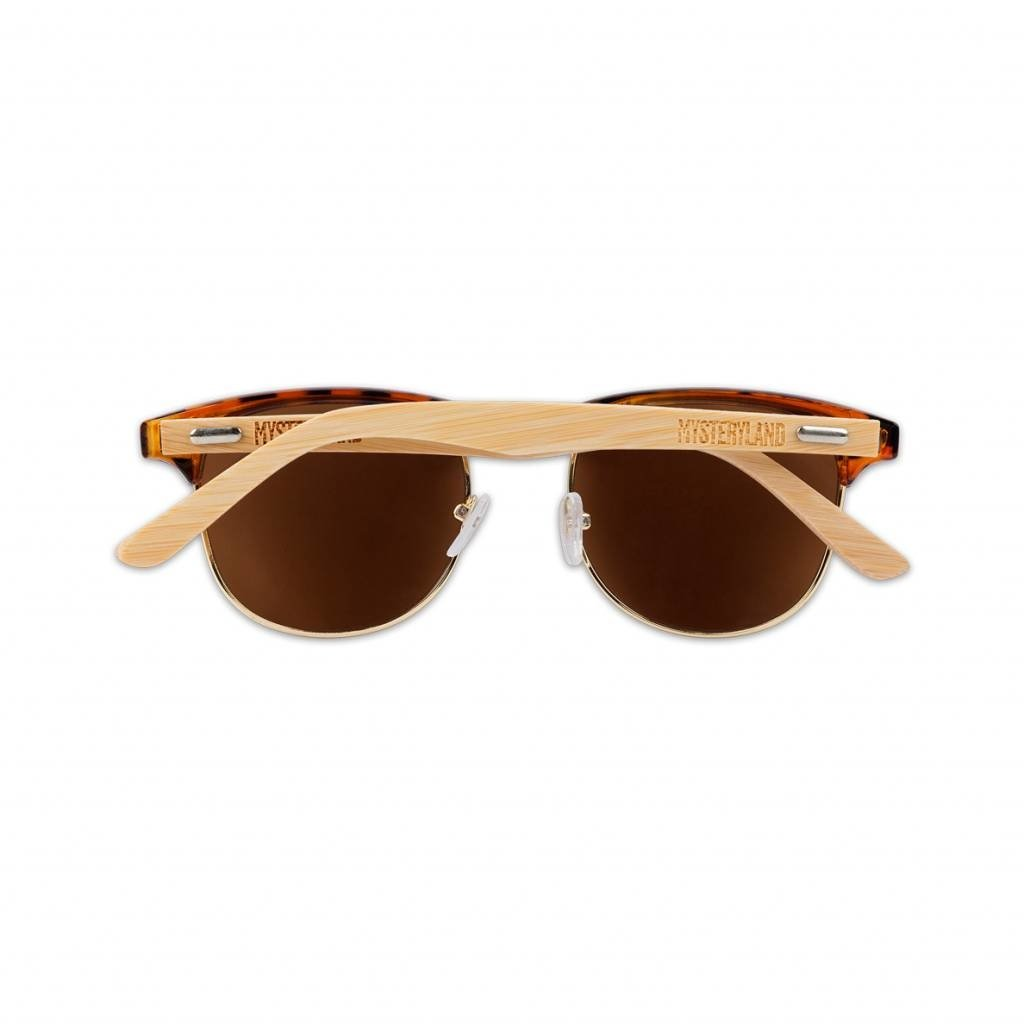 CLUBMASTER SUNGLASSES BROWN/BLACK/WOOD