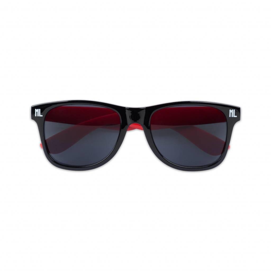 SUNGLASSES BLACK/RED/WHITE
