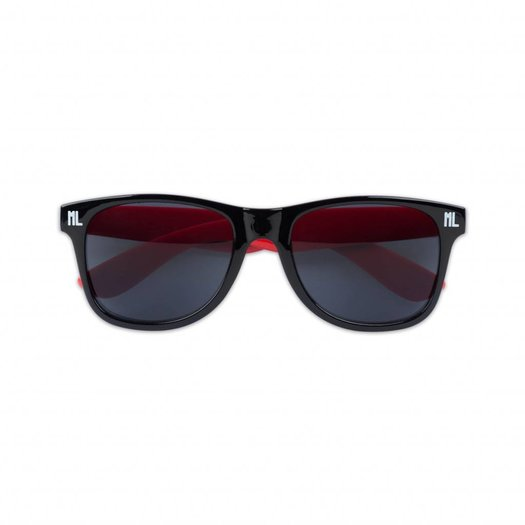 SUNGLASSES BLACK/RED/WHITE