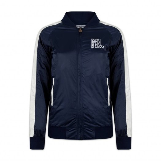BOMBER JACKET NAVY/WHITE