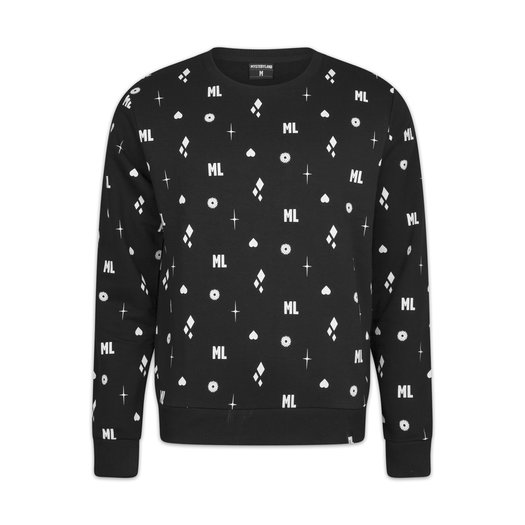 CREWNECK BLACK/WHITE PATTERN