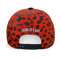 Baseball cap red/leopard