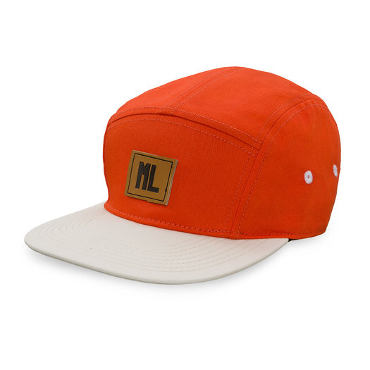 5 panel cap warm red/off white