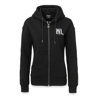 Hooded zip black/white