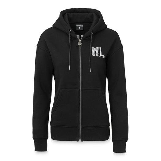 Hooded zip black/white