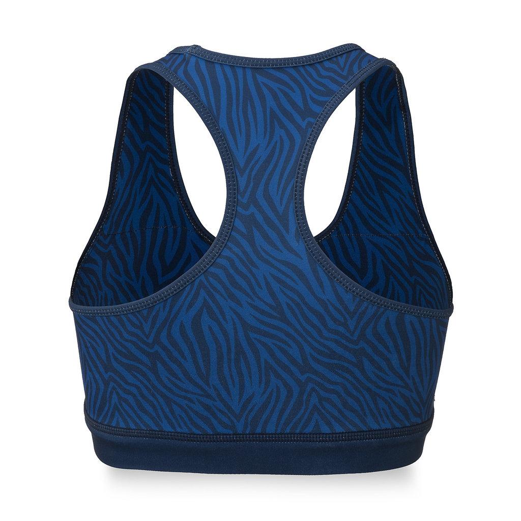 Sport bra blue/zebra